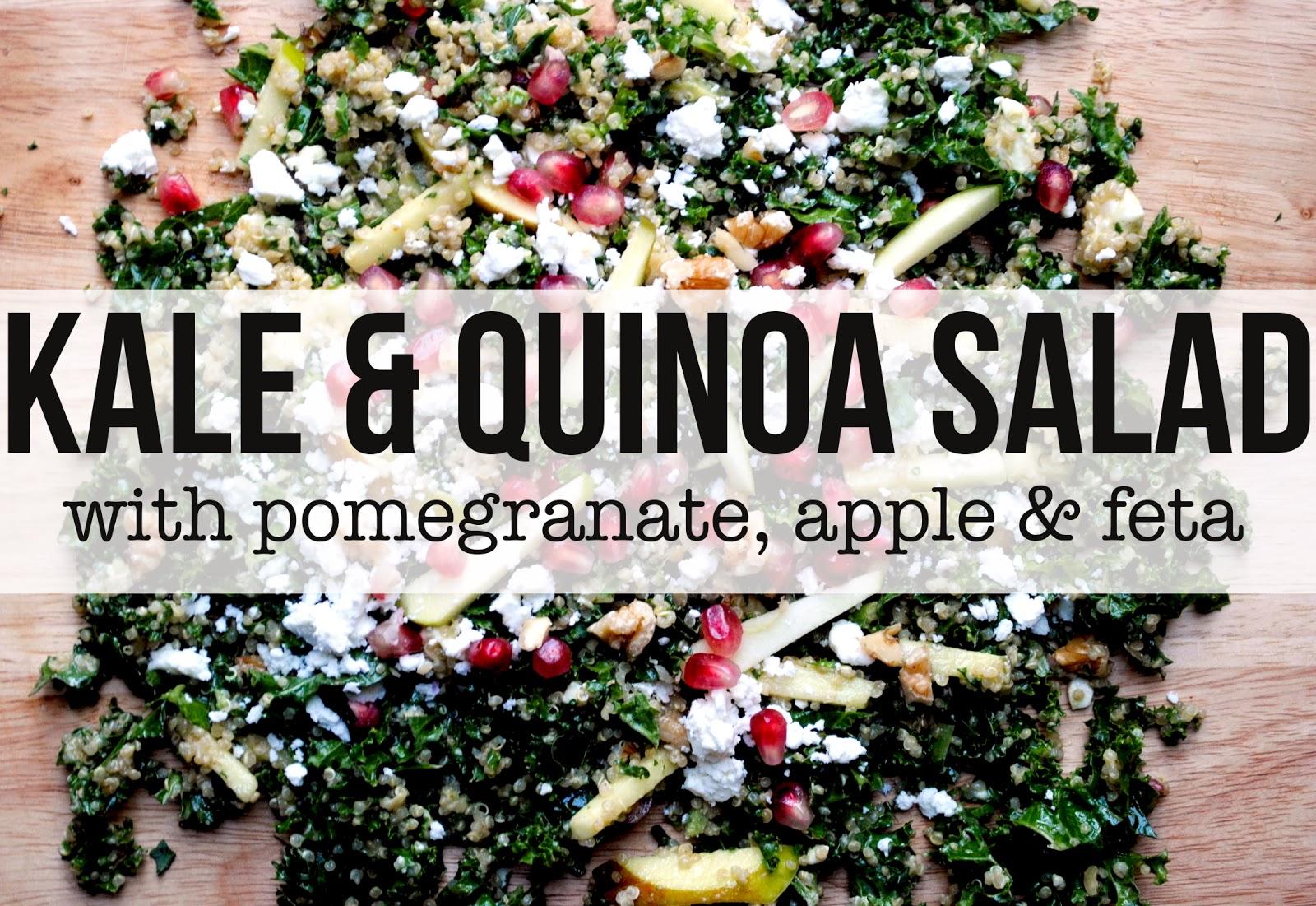Kale  Quinoa Salad With Pomegranate, Apple  Feta tangerine canteen