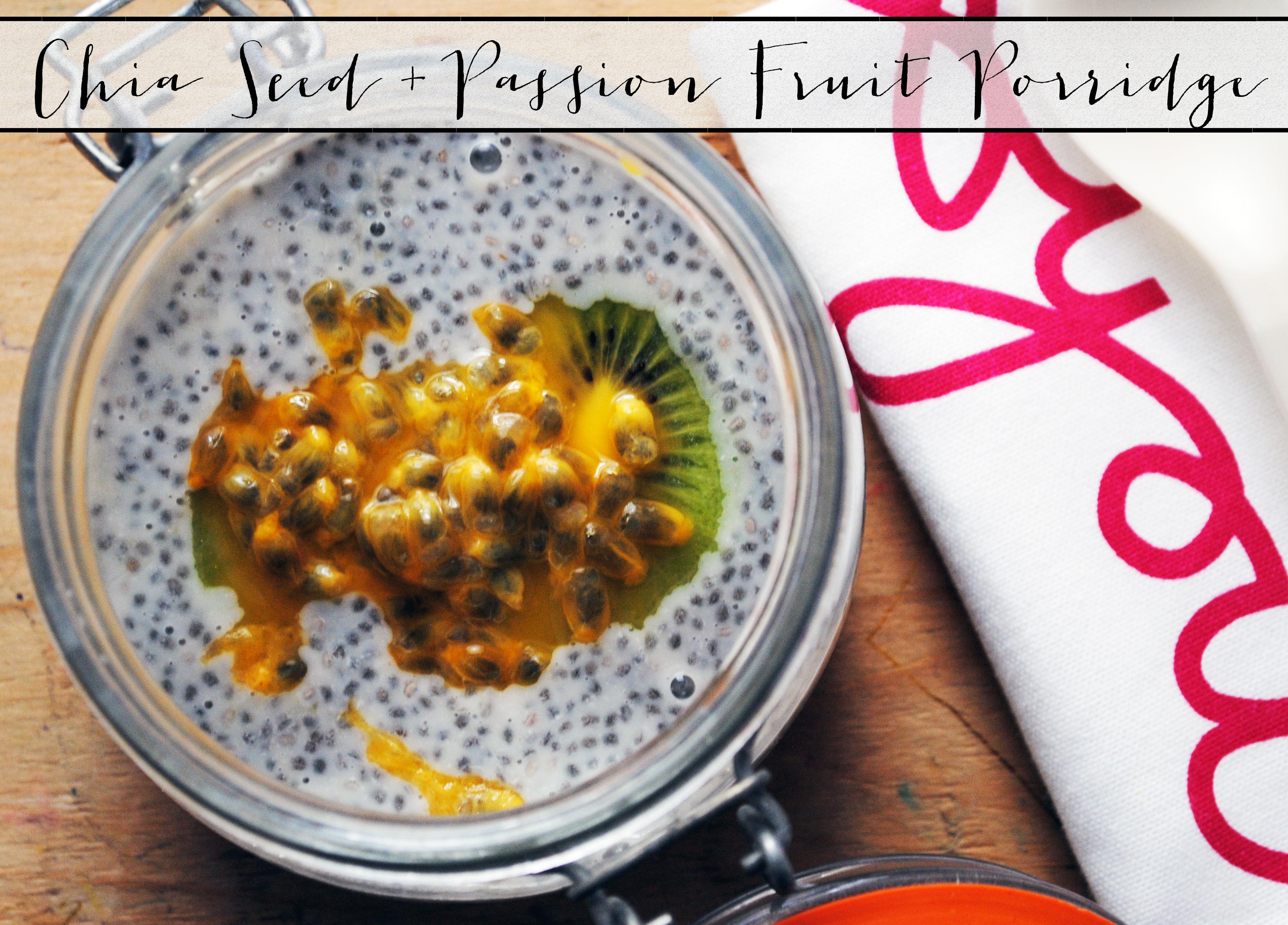 Tangerine Canteen Chia Seed & Passion Fruit Porridge